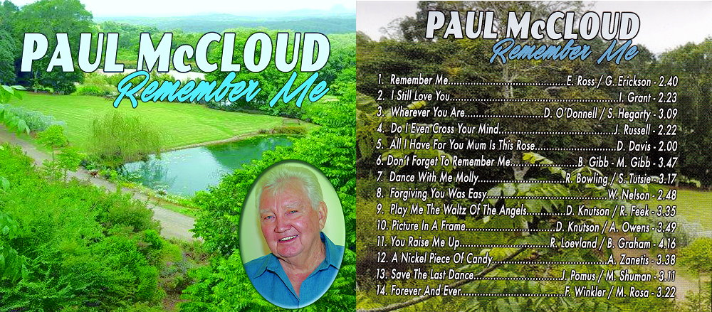 Paul McCloud Remember Me Album