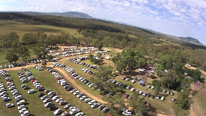 Aerial view of Hartwood Festival 2014