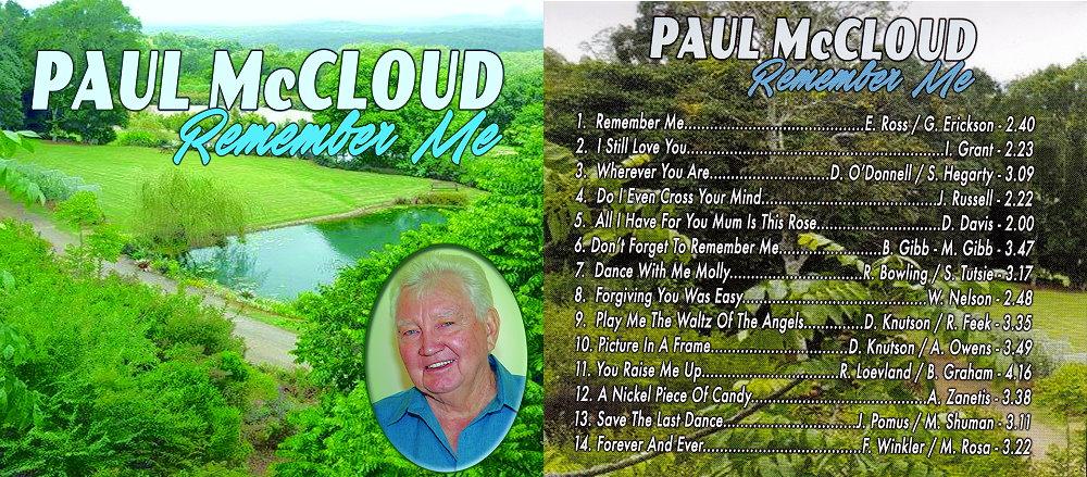 Paul McCloud Remember Me Album